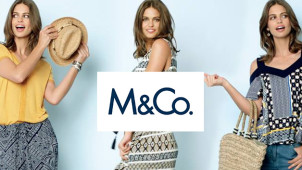 25% Off Orders and Free Delivery at M&Co