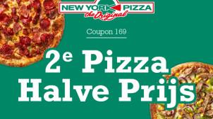 50% korting op je tweede pizza met deze code!
